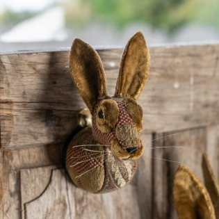 Handmade Fabric Rabbit Head