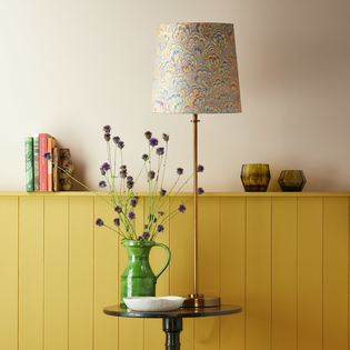 Pooky Tall Tapered Marbled Shade - Golden Piave - 30cm