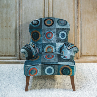Arundel Armchair in Dress Circle Teal velvet fabric