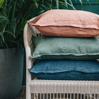 Stone Washed Linen Cushions