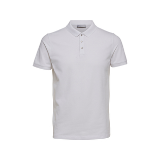 Selected Homme Damon Short Sleeve Polo Shirt Bright White
