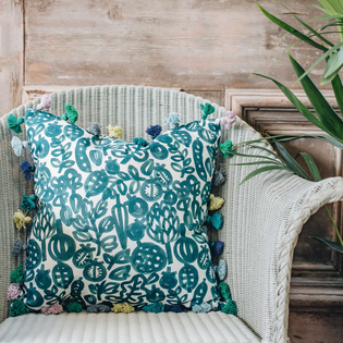 Wee Pomegranate Tassel Cushion