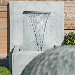 Arno Square Zinc Water Feature