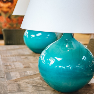 Giant Teardrop Lamp Aqua