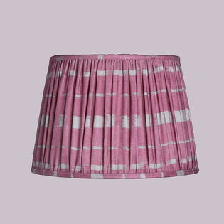 Pooky Straight Empire Gathered Lampshades Rose Denim