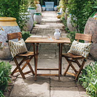 Mango Wood Café 2 Seater Table and Chairs Set