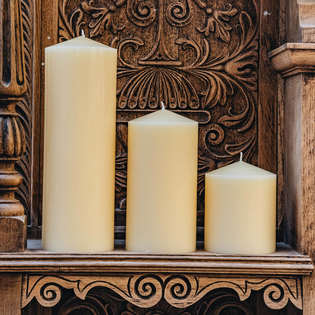 Burford's Church Candles (4 inch diameter)