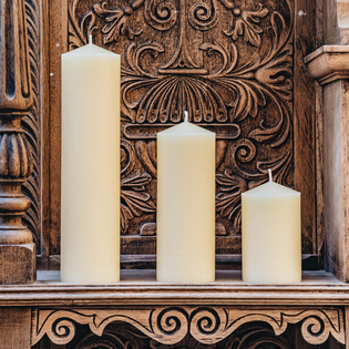 Burford's Church Candles (3 inch diameter)