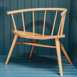 Devon Contemporary Armchair in Ash and Elm