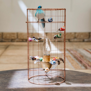 Mathieu Challières Mini Birdcage Table Lamp