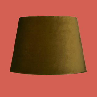 Pooky Straight Empire Lampshades in Forest Green Velvet