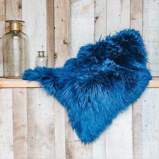 Swedish Sheepskin Navy Blue