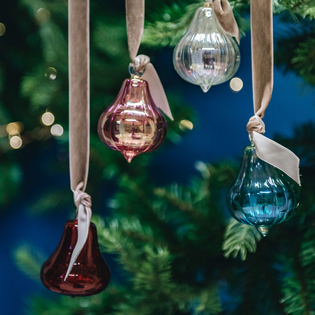 Fig Glass Baubles