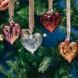 Heart Glass Decorations