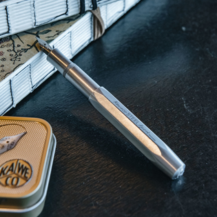 Kaweco Fountain Pen Steel Sport, with tin box