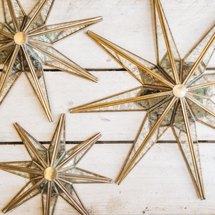 Layla Decorative Antiqued Glass Stars