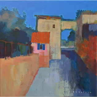 Mike Ibbotson: Street with Arch, Tuscany