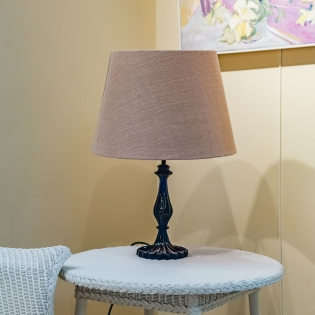 Pooky Straight Empire Lampshade in Natural Jute with Pink Lining
