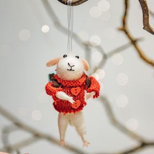 Rambling Mouse Christmas Tree Decoration