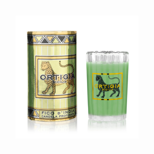 Ortigia Sicilian Candles in Ridged Glass Fico d'India