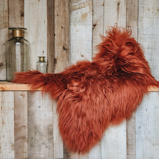 Icelandic Sheepskin Terracotta