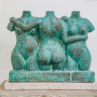 James Connolly: Three Graces (bronze resin)
