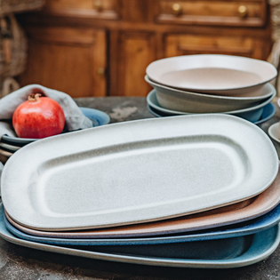 Stonware Oval Platters