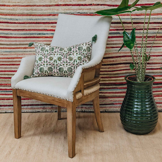 St James Deconstructed Oak Carver Chair (green cushion not included)
