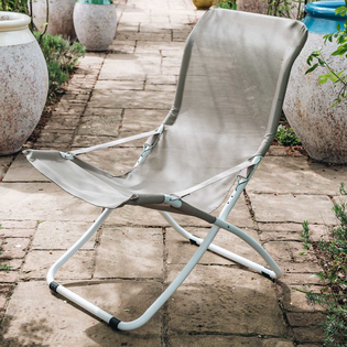 Fiesta XXL Lightweight Relaxer Chair - Dove Grey