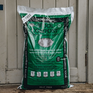 Peat Free Wool Compost for Vegetables and Salads - 30 L