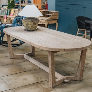 Dan Indoor/Outdoor Teak Dining Table Large
