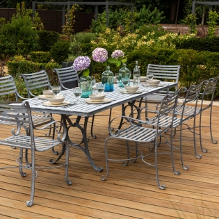 8-Seater Rectangular Garden Dining Chair Set