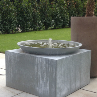 Perugia Zinc Water Feature with LED Light