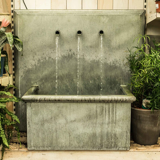 Trento Zinc Water Feature – Square