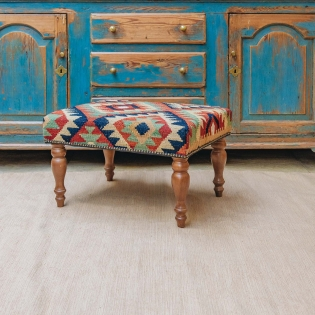 Large Kilim Stool (geometric)