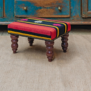 Small Kilim Stool (broad stripes)