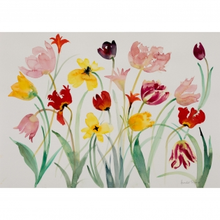 Annabel Fairfax: Mixed Tulips 3