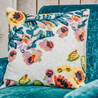 Daphne Square Embroidered Cushion