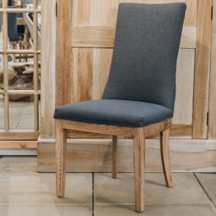 St James Charcoal Linen Oak Dining Chair
