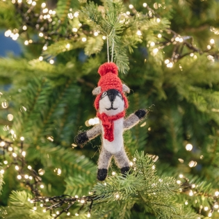 Felt BadgerTree Decoration