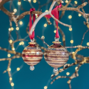 Eternity Coloured Glass Baubles
