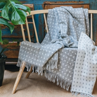 Grey Spot Throw