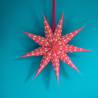 Cherry Cassiopeia  Paper Star - Cherry