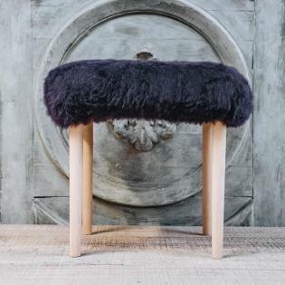 Seren Baa Beauty Stool - Aubergine