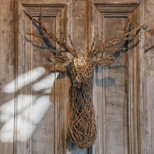 Willow Stag Head