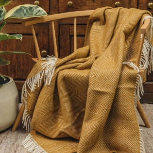 Burford Fishbone Wool Throws