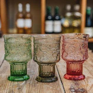 Large Coloured Glass Goblets