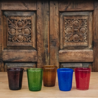 Coloured Small Drinking Glasses