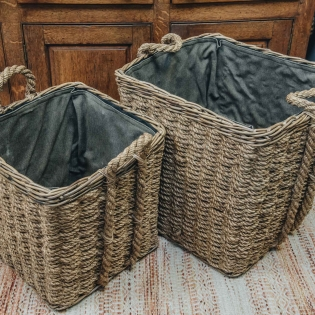 Square Woodblock Baskets