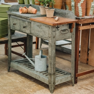 Galvanised Potting Table